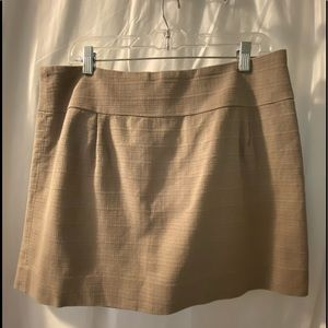 J.Crew Women's 12 Mini Skirt Textured Brown shade
